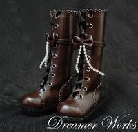 1/3 1/4 BJD/SD boots bjd shoes beaded bow laciness boots bjd accessory
