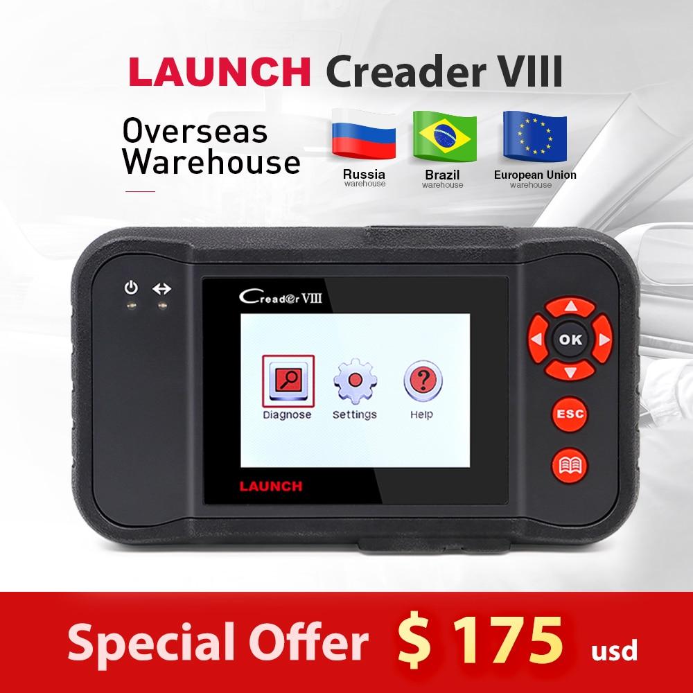 LANCEMENT X431 Creader VIII 8 obd2 EOBD Lecteur de Code Scanner testeur ENG/ABS/SRS/Airbag + De Frein /SAS/fonction de réinitialisation de L'huile même comme CRP129