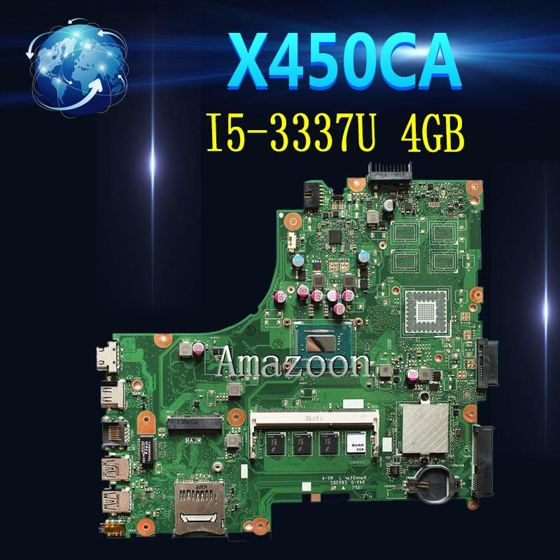 Akemy For Asus X450CC X450CA A450C X450C Motherboard with I5-3337U cpu 4GB memoryAkemy For Asus X450CC X450CA A450C X450C Motherboard with I5-3337U cpu 4GB memory