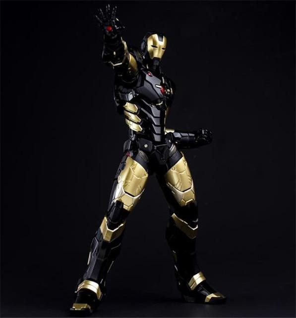 HC Iron Man Mark MK 42 BLACK GOLD with LED Light PVC