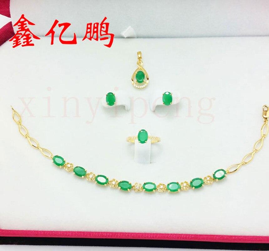Xin yi peng 18 k rose gold inlaid 1.53 carat natural emerald ring, the woman ring, with diamond,square, fashion precious