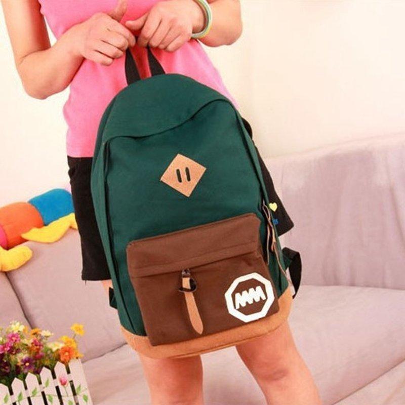 Fashion Canvas Women Men Backpack School Bag Back Pack Lover Students Schoolbag Lovers Bagpack 2017 New 6 Colors