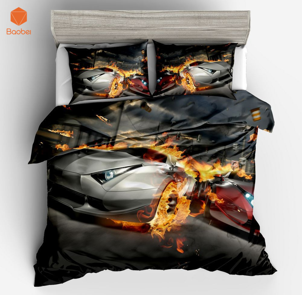 3pcs Car Sports car Pinted 3D Luxury Duvet Cover Set Bedding set With Pillowcase for Adults KidsTwin Full Queen King Size sj208 ...