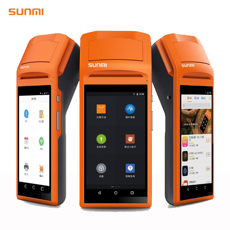 5.5 Display Wifi 3GBluetooth Handheld Mini Android Pos Terminal with Thermal Printer Barcode Scanner