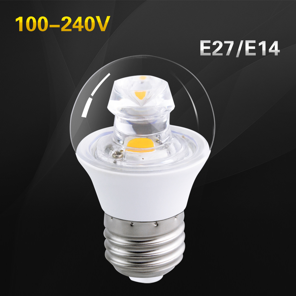 foxanon e27 led lamp 120v 220v real 5w cob bulb e14 guided light beam candle brighter cheap bedroom lighting