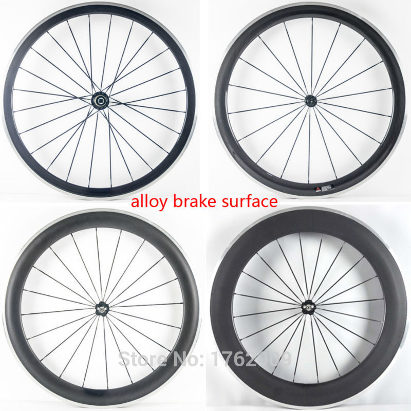 1Pair New 700C Road bike 38/50/60/80mm clincher rims 3K UD 12K carbon fibre bicycle wheelsets with alloy brake surface Free ship1Pair New 700C Road bike 38/50/60/80mm clincher rims 3K UD 12K carbon fibre bicycle wheelsets with alloy brake surface Free ship