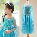 Платья девушки принцесса анна эльза косплей костюм детский ну вечеринку платье дети девушки одежду