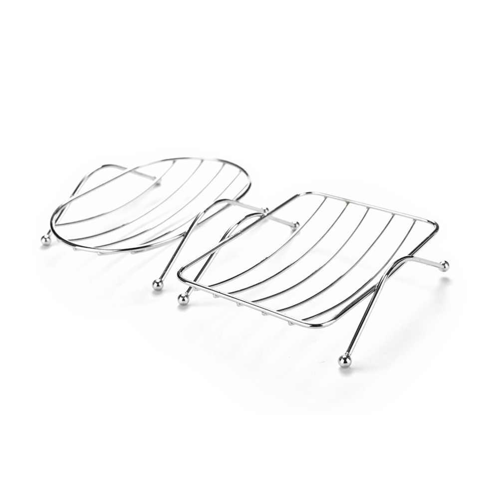 جودة عالية 12.5*9*3.5 cm الفولاذ المقاوم للصدأ الصابون حامل حامل الوظائف الحمام الفولاذ الصابون Dishs صينية مربع