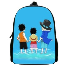12 Inches Popular 2016 New Cool Hero One Piece Cartoon Children backpack for girls school bags kids backpack for baby boy bag