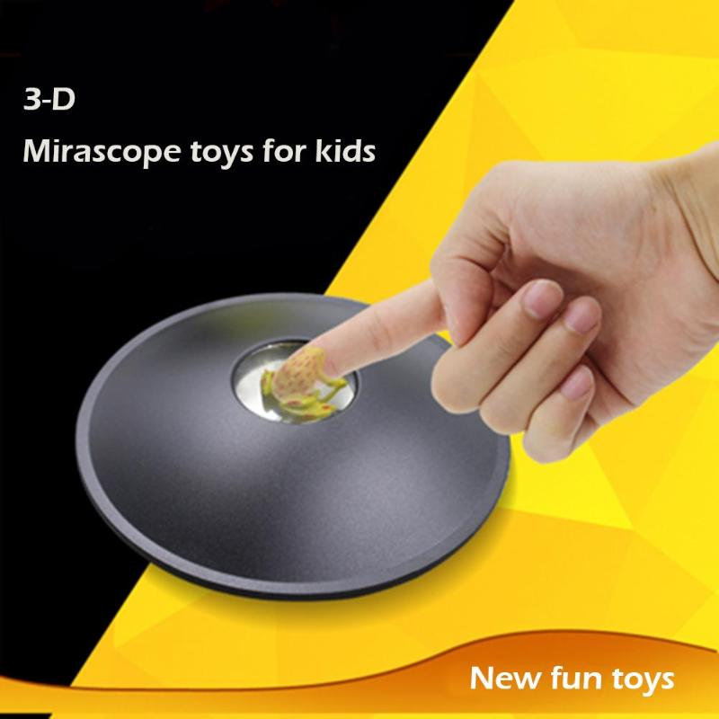 3D Magic Mirror Scope Illusion Creator Mirage Black Hologram Maker Parabolic Reflector For Kids Education Science Fun Play Toys