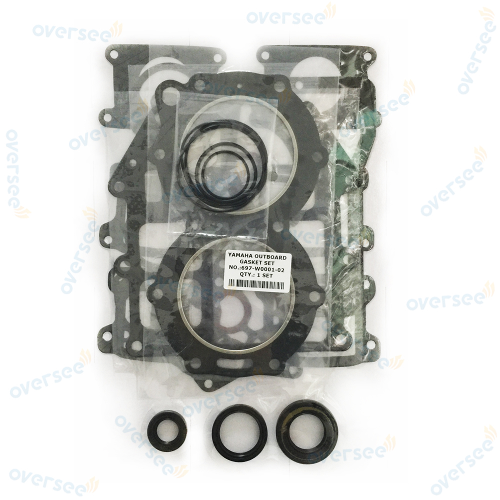 OVERSEE 55HP 60HP Gasket Kit 697 W0001 02 For Yamaha Outboard Engine Power head Repair
