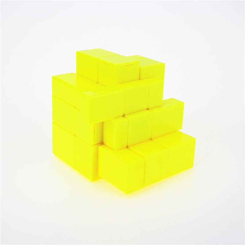 Новейший QiYi 3x3x3 зеркальные блоки магический куб соревновательная головоломка на скорость игрушечные кубики для детей cubo magico