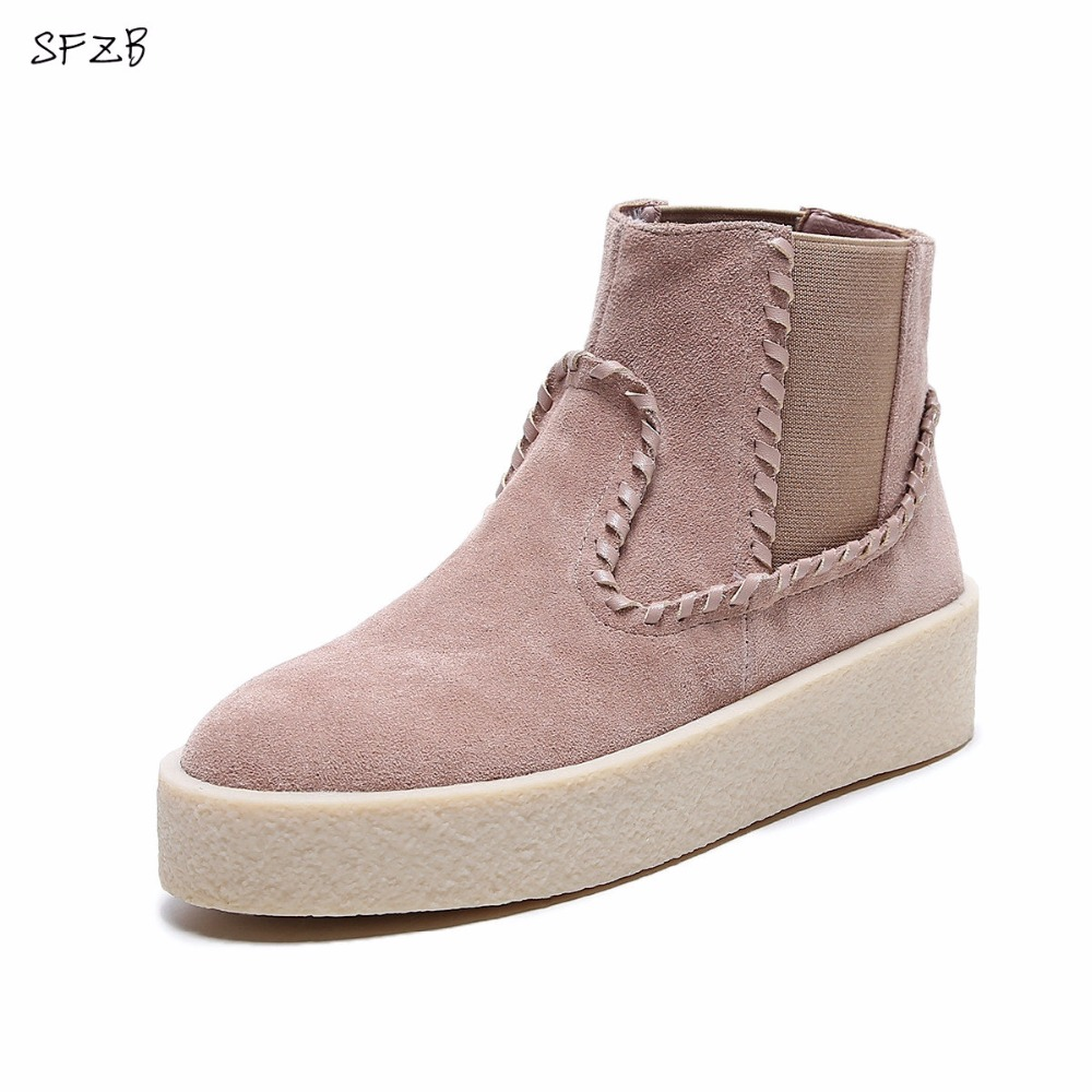SFZB 2017 Dr Fashion Ankle Boots Winter / Fall Women Motorcycle Martin Boots Women Boots Snow Boots Oxfords Female Shoes