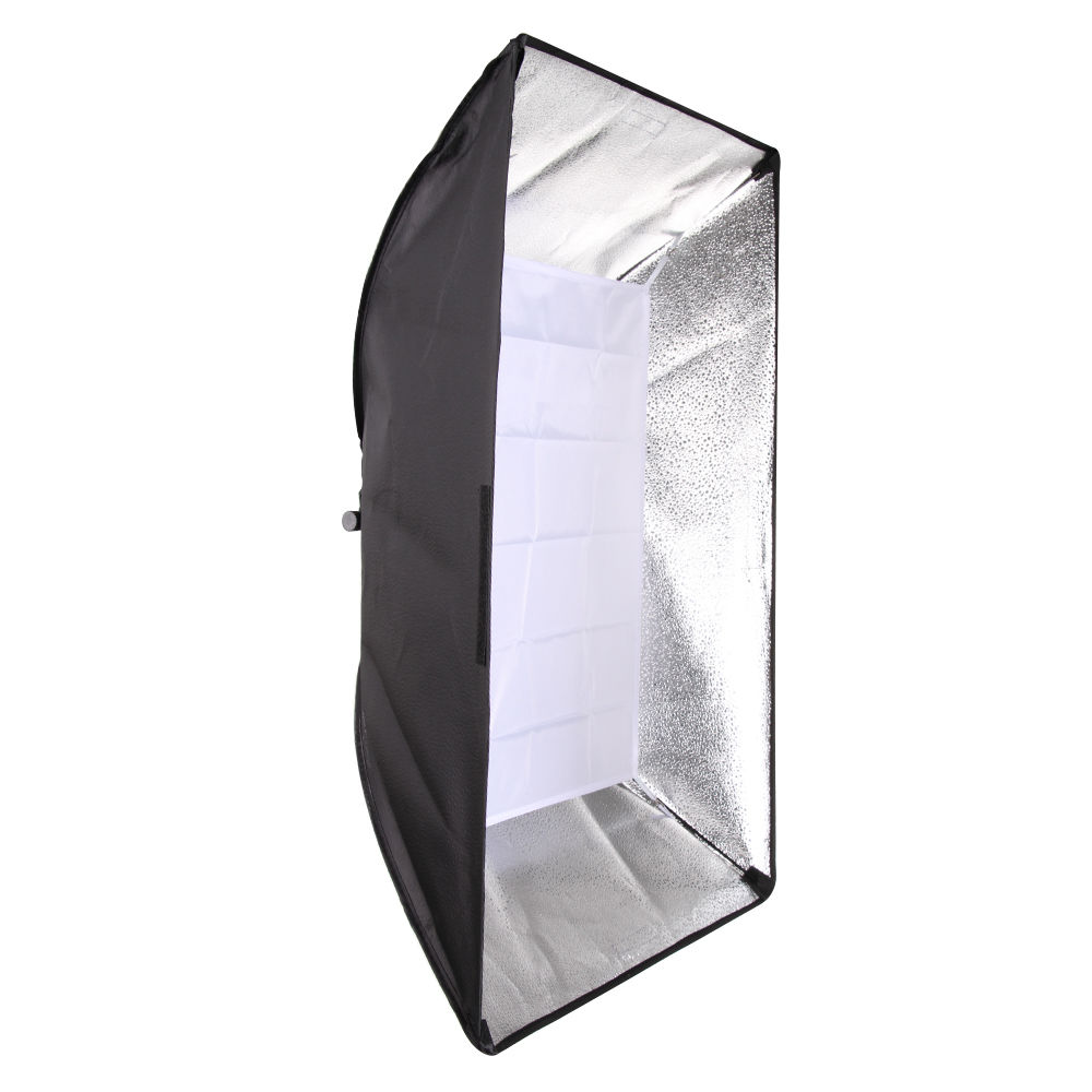 Studio Softbox w/Support Universel pour Flash Stroboscopique Lumière Speedlite 50x70 cm 20 x 27