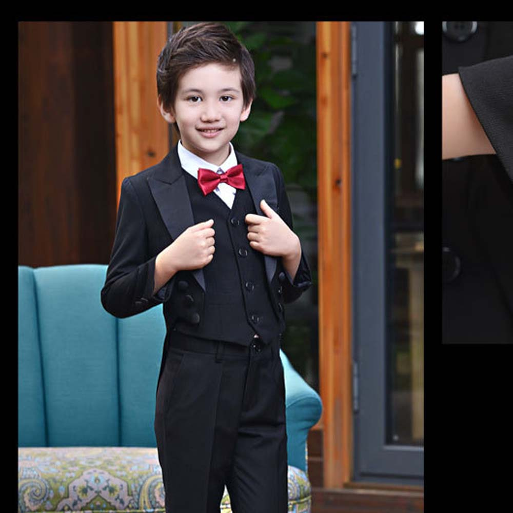 Boys Tuxedo Suits for Weddings Boys Blazers Suit Jacket+Blouse+Tie+Pants 4 pieces/set Children Costume Garcon Marriage Clothes student performance clothes children clothing sets boys blazers wedding sets pieces boys tuxedo suits