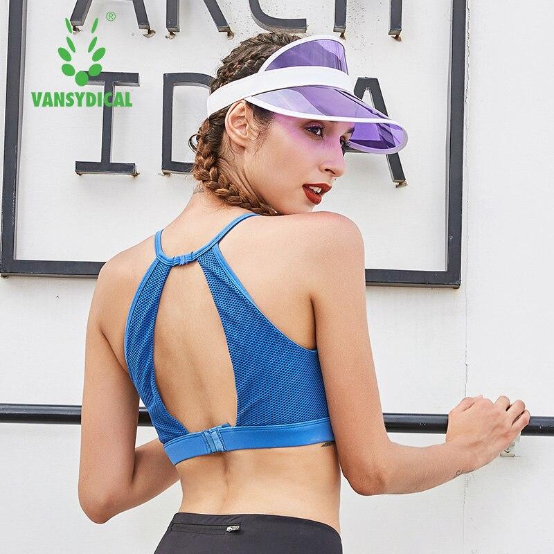 ①  Vansydical Женщины Sexy Yoga Бюстгальтер Мягкий Спортивный Бюстгальтер Shake Доказательство Бег Трен ①