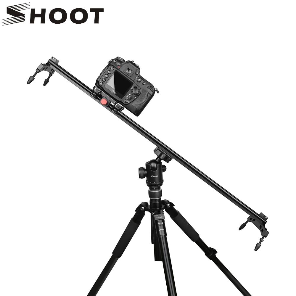 SHOOT 80 100cm 4 Bearings Camera Aluminum Alloy DV Video Stabilizer Rail Track Slider For GoPpro