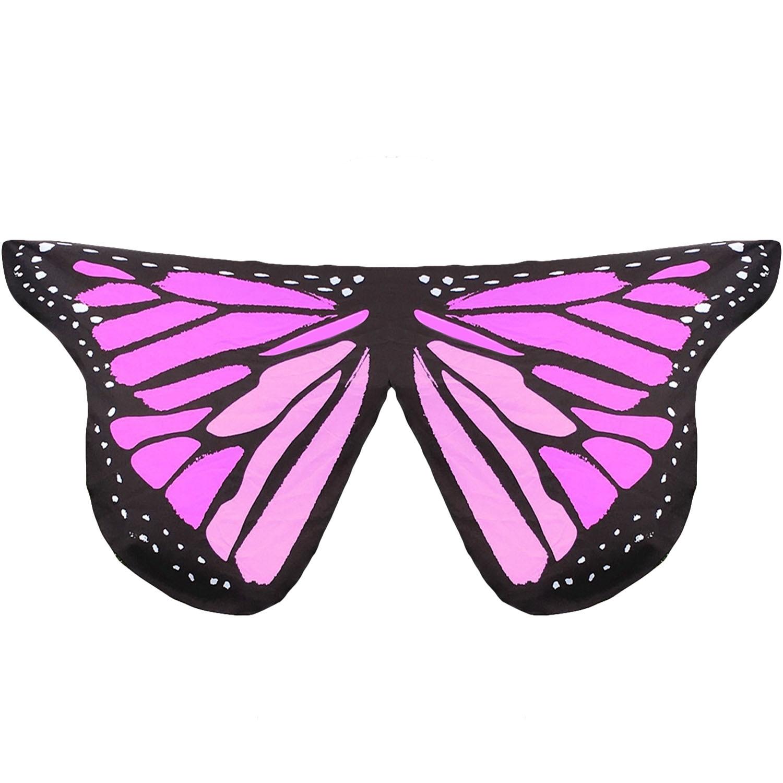 ขาย Fancy Butterfly Wings Shape Shawl Wrap Fairy Ladies Girls Nymph Pixie Costume Accessory Beach Cover Wear Party Props Style E Intl Unbranded Generic ออนไลน์