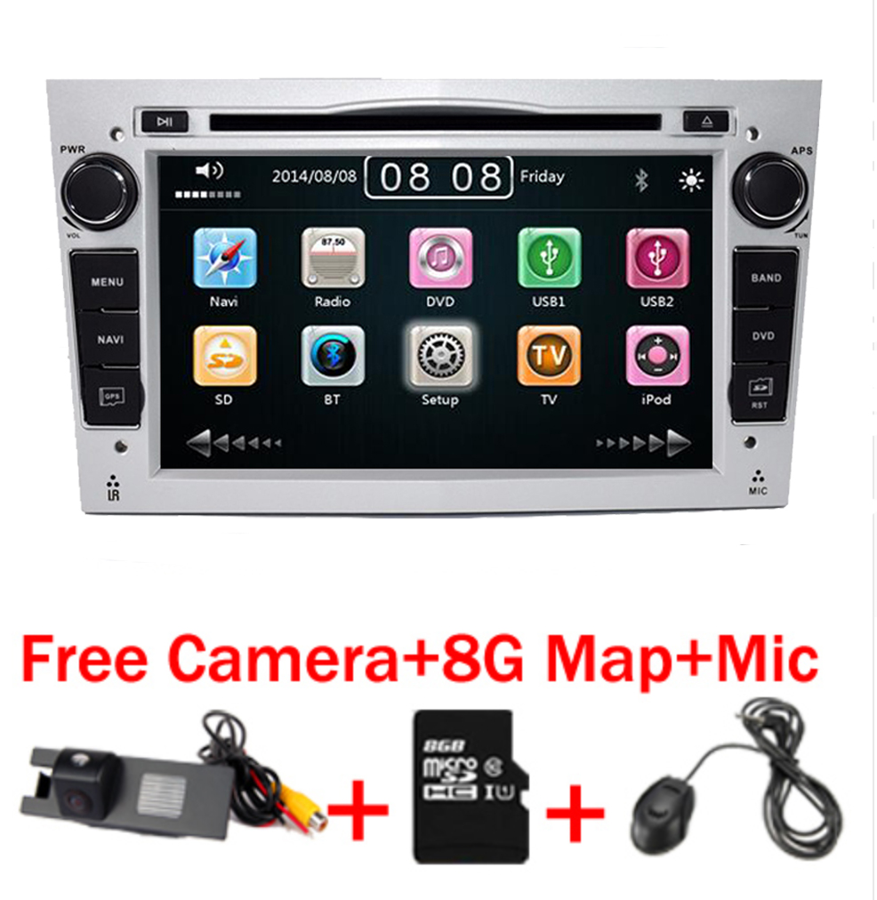 2 din Car dvd player For Opel Astra Vectra Antara Zafira Corsa GPS Navigation Radio Audio Video USB SD Steering wheel control wince 6 0 steering wheel control bluetooth rds for opel astra vectra zafira car dvd player gps navigation free map touch screen