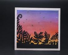 Beautiful Sunset Background Metal Cutting Mold DIY Scrapbook Album Decoration Supplies Clear Stamp Paper Card