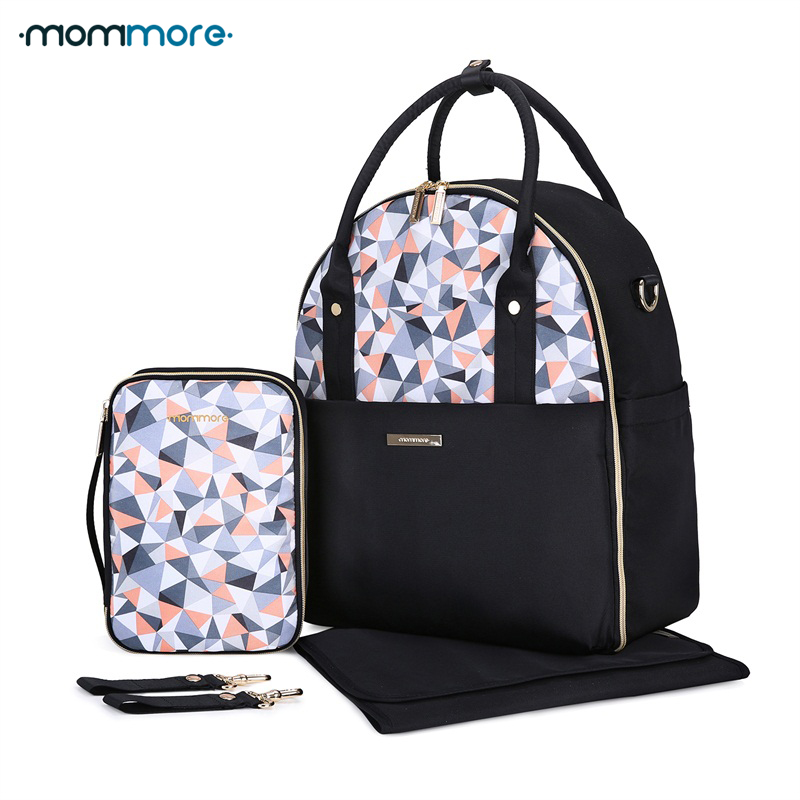 Mommore Baby Nappy Bag With Changing Pad Baby Diaper Backpacks Mummy Diaper Bags Multifunctional Picnic Cloth Backpacks