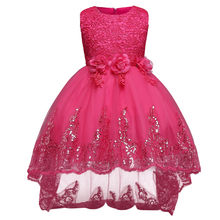 01f554695 Aini babeprincess marca vestido de la muchacha 2018 Niñas ropa ceremonias  partido Vestidos para Niñas noche formal desgaste del .