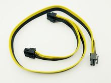 10 Pcs وحدات PSU امدادات الطاقة كابلات PCI e موليكس 6pin إلى 2 PCI-e 8 دبوس 6 + 2pin PCI اكسبريس الداخلية الخائن الشريط مينر كابل