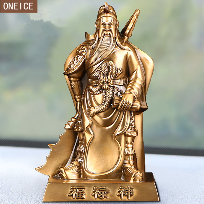 Metal Guan Yu Sculpture High Quality Alloy Character Statue Modern Home Decoration Accessories Car Accessories Guan Yu Statue statue