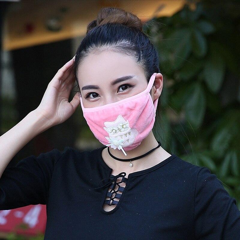 Damen-accessoires Modestil 10 Teile/paket Koreanische Mund Maske Masque Bouche Kpop Staub Pm2.5 Maske Großhandel Masken Gesicht Schild Anti Staub Masken Winter Gesicht Maske 100% Garantie Masken