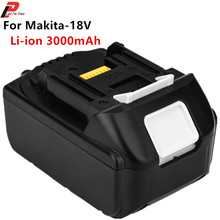 18V 3000mAh Li-Ion Rechargeable Power Tools Replacement Battery for Makita Drill BL1815 BL1830 BL1840 new original 18v 3000mah li ion rechargeable battery pack replacement power tools batteries for makita bl1830 bhp451 wholesale