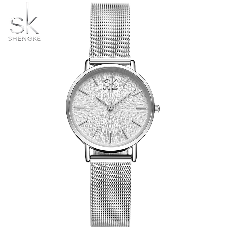 SK Super Slim Sliver Mesh Stainless Steel Watches Women Top Brand Luxury Casual Clock Ladies Wrist Watch Lady Relogio Feminino sk super slim sliver mesh stainless steel watches women top brand luxury casual clock ladies wrist watch lady relogio feminino