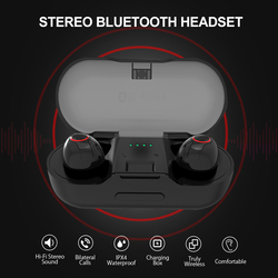 TWS Bluetooth 5.0 Earbuds Wireless Earphones Stereo Handsfree Cordless Sports Headsets with Mic Charging Box for Phones