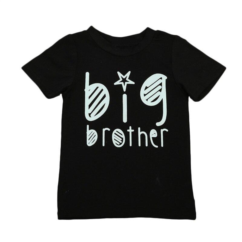 Pudcoco Girl T-Shirt Sister Baby Cotton Children Short-Sleeve Boy Letter Big Fahion