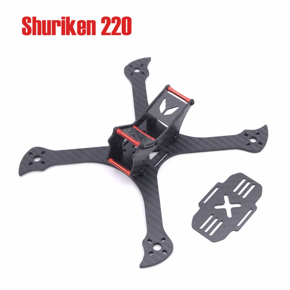 Shuriken 220 220mm 4mm arm Carbon Fiber Stretch X 220mm MINI Frame kit Quadcopter Four Axis Multi FPV Indoor Racing Drone diy fpv mini drone qav210 zmr210 race quadcopter full carbon frame kit naze32 emax 2204ii kv2300 motor bl12a esc run with 4s