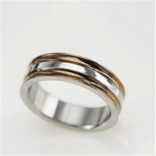 Free Shipping 2016 new Fashion Punk Jewelry Men Stainless Titanium Steel silver Rose Gold Ring Finger Rings for men & Women(China)