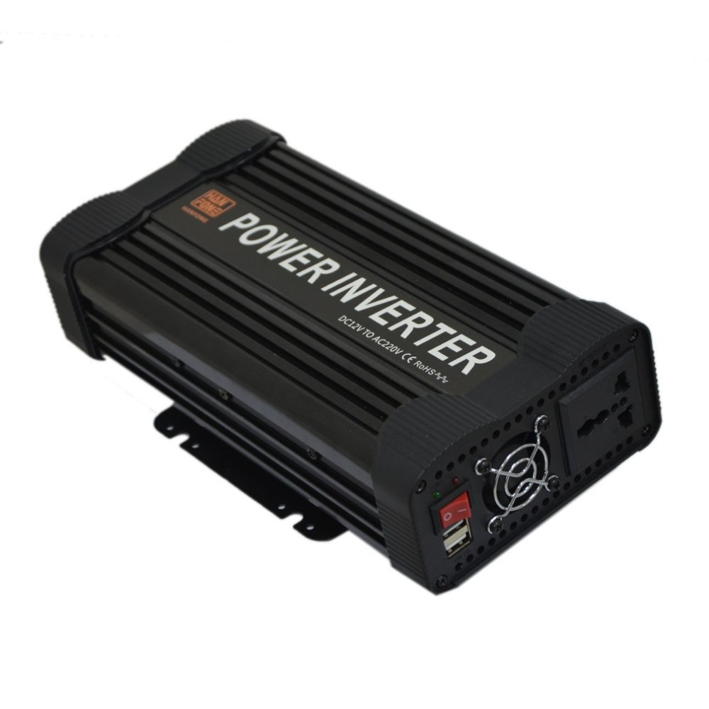 DC 12V To AC 220V Car Inverter Power Adapter Modified Sine Wave Car Voltage Adapter MCU Control Car Charger Easy Carrying Top