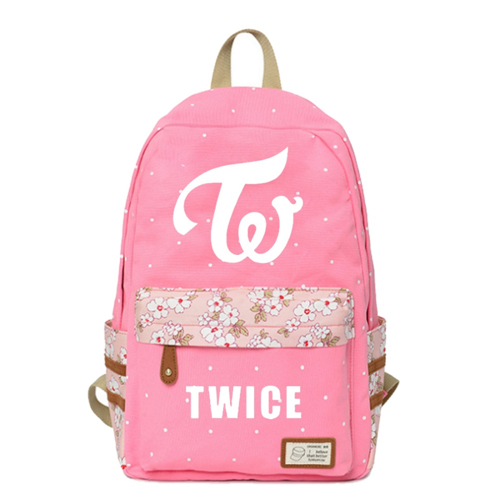 Luggage & Bags Symbol Of The Brand Wishot Kpop Twice Backpack Flowers Shoulder Travel Bag For Teenagers Girls Women Canvas Dot School Bag Cute Pink Kids & Baby's Bags