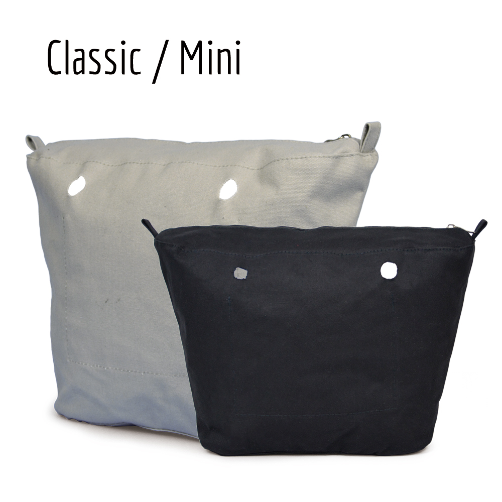 11 colours Obag waterproof Inner Lining Insert Zipper Pocket for Classic Mini pocket O Bag