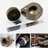 Car Auto T3 Turbo Heat Shield Blanket Cover Titanium Manifold Downpipe Wrap Rear 5cm*5m Turbo Charger Barrier Blanket