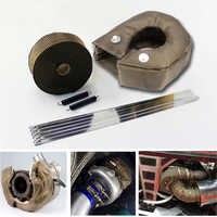 Voiture Auto T3 Turbo bouclier thermique couverture couverture titane collecteur tuyau de descente envelopper arrière 5cm * 5m Turbo chargeur barrière couverture
