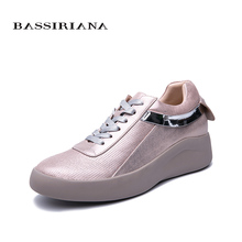BASSIRIANA new spring and autumn festival ladies natural leather casual  shoes thick bottom fashion comfortable womens