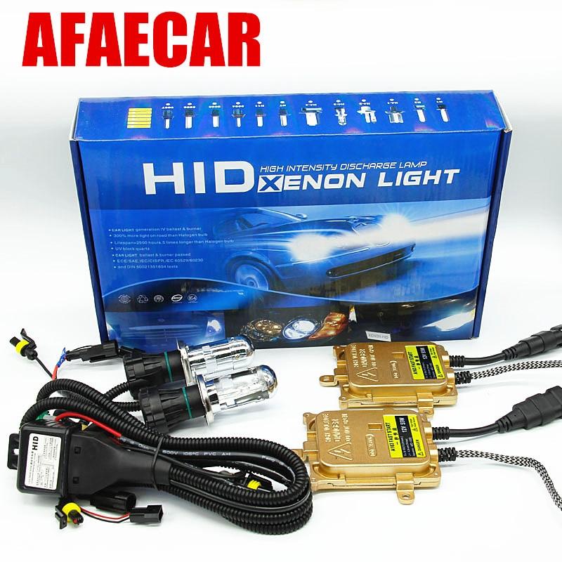 AFAECAR xenon h4 bixenon hid headlight kit h4 hi lo 55w 6000k