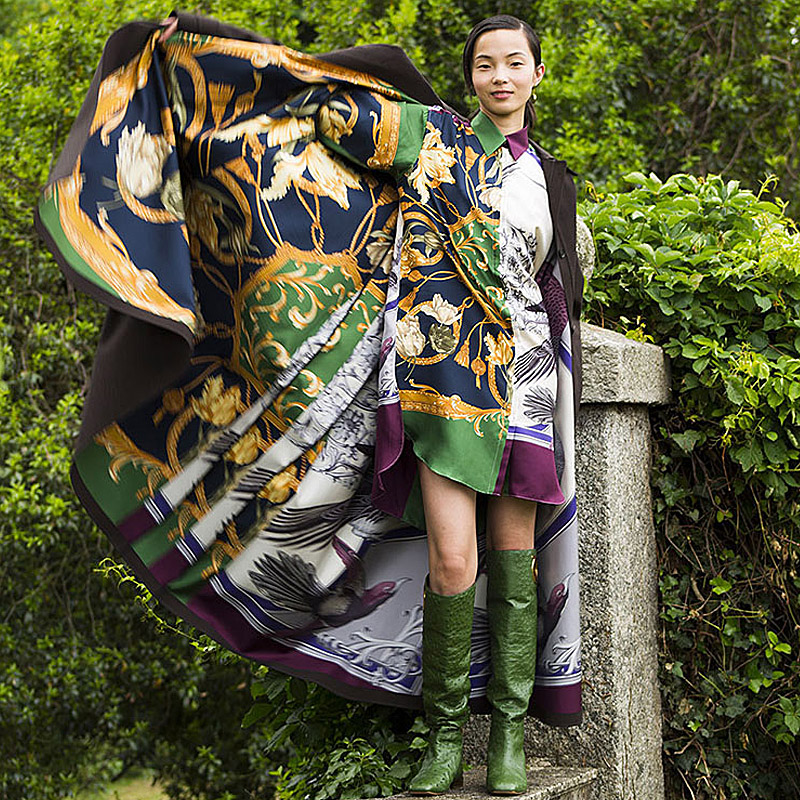 Femmes Revers Fleur Robe 66 Xf Longues Bohème Casual Printemps Courte 2019 Imprimer Manches Piste Multi Haute Qualité Designer Fashion Parti 3cKJuTF5l1