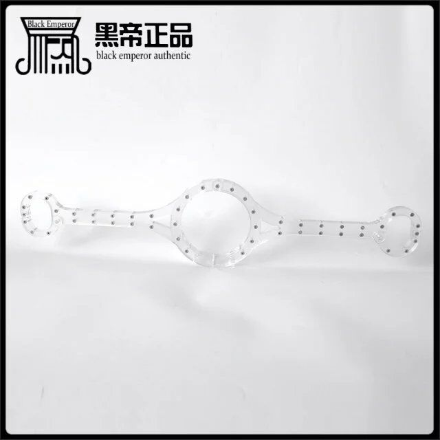 Conjoined clear bdsm bondage collar handcuffs for sex adult slave game neck wrist restraints fetish collars hand cuffs sexy toys stainless steel metal hand cuffs bdsm fetish wear bondage restraints handcuffs for sex erotic toys adult game sex toys for women