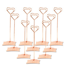 10pcs/Set Place Card Holder Heart Shape Clips Wedding Favors Place Card Holder Table Photo Memo Number Name Clips Base sector holder place card gold silver table numbers place card holder wedding placeholders wedding table numbers