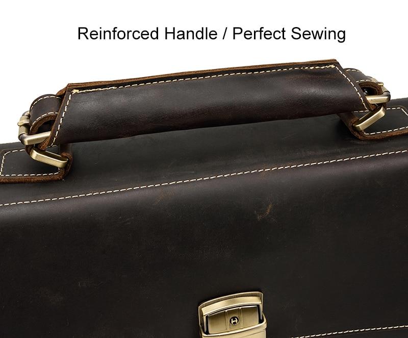 HTB1HERJQNYaK1RjSZFnq6y80pXav MAHEU Luxury Fashion 100% Genuine Leather Men Briefcase Cow Leather Laptop Bag Vintage Shoulder Bag Real Cowhide Computer Bag