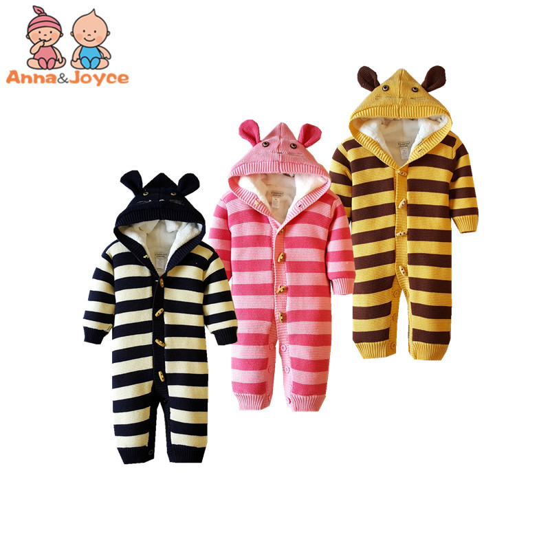 2018 Autumn and Winte New Type of Pure Cotton Newborns Thickened Baby Rompers Crawl Clothes for Children's Sweaters