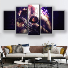 5 Pieces Movie Poster Assassins Creed Painting Wall Art Waterproof Ink Canvas Printed Abstract Tableau Pictures