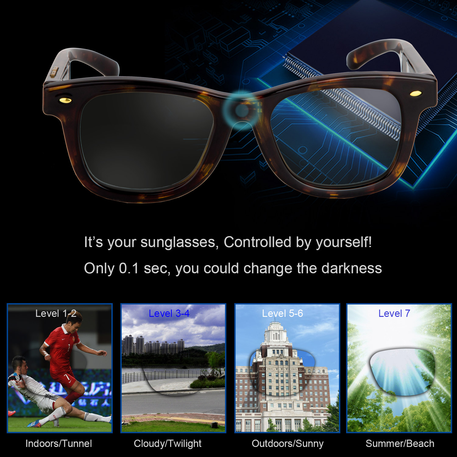 35f503301243 Detail Feedback Questions about LCD Sunglasses Electronic Control Tinting  Sunglasses Women Men Polarized Sunglasses for Women Fishing Driving  Sunglasses ...