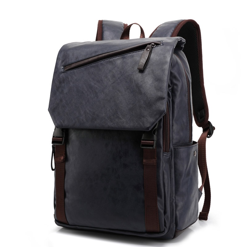 ФОТО Women Leather Backpack Men Mochila Couro Fashion Laptop Backpacks for Teens Travel Bags PU Leather Backpa Mochilas Masculina